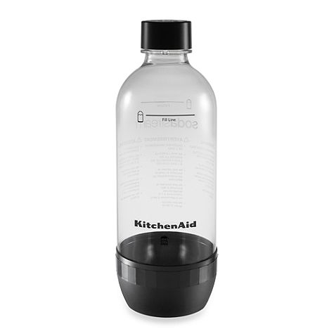 Make use of this KitchenAid SodaStream 2-Pack 1-Liter Carbonating Bottle with your SodaStream machine so you have a spare BPA-free bottle ready to go to make your favorite carbonated beverage at a moment's notice.