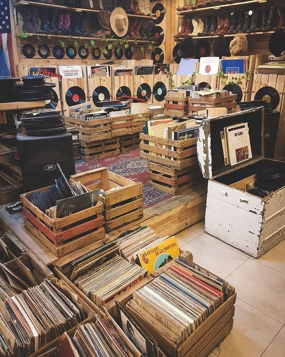 Is It A Store Or An Interesting Collection Set Up Anyone Know Comment Please Vinyl Records Vinyl Retro Aesthetic