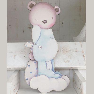 Siluetas madera infantil efecto pintado a mano oso entre - Siluetas madera infantiles ...