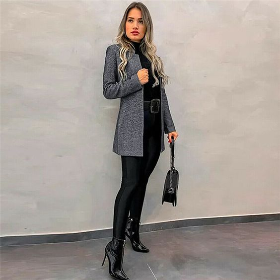 2019 autumn and winter fashion slim suit collar long sleeve blouse jacket | victoriaswing #victoriaswing #fall #winter #fashion #womenfashion #clothing #chic #newfashion #style #outfit #fashionlook #sweater #cardigan #womenclothes