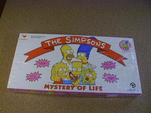 Vintage 1990 The Simpsons MYSTERY OF LIFE Board Game Sealed