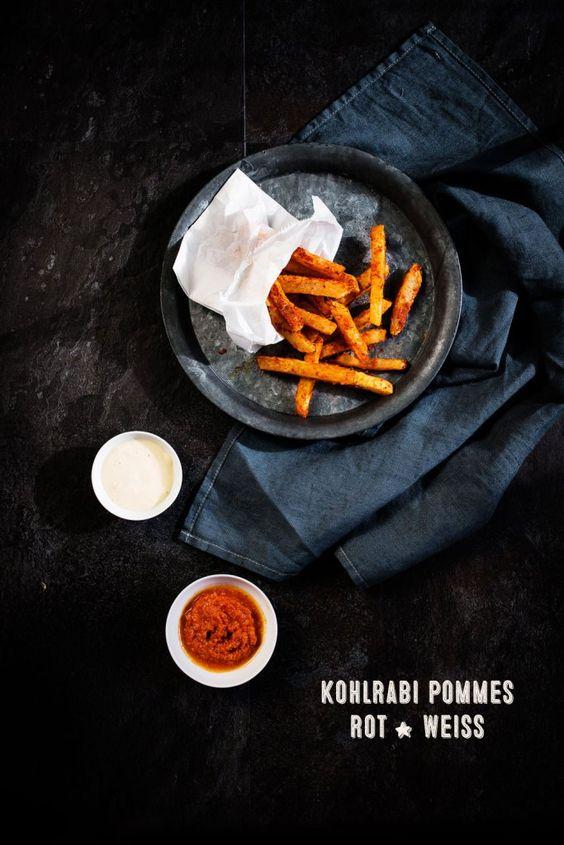 Kohlrabi Pommes, Miso Mayonnaise, Romesco Sauce   seelenschmeichelei.de
