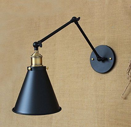 Swing-Arm Wall Lamp Industrial Edison Simplicity Wall Mount Light Sconces America Country style Vintage adjustable wall lamp