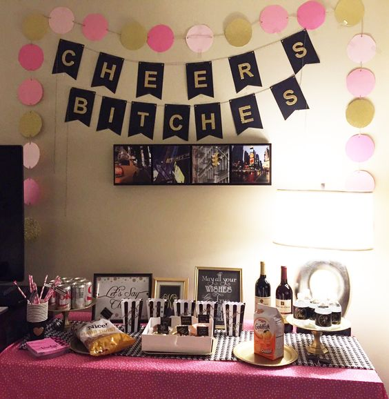 30th birthday room decor and spray painting on pinterest for Room decor ideas for husband birthday