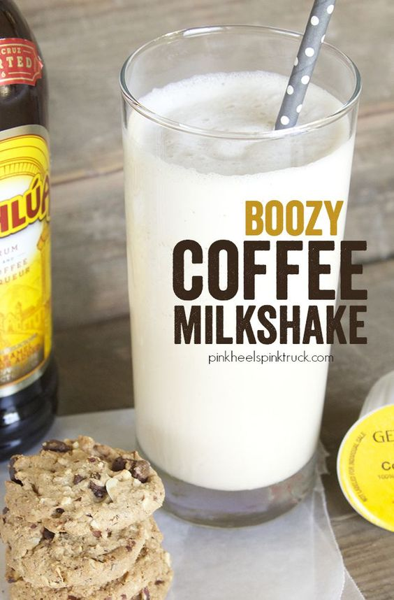 Boozy Coffee Milkshake - a scrumptious frozen treat combining coffee ...