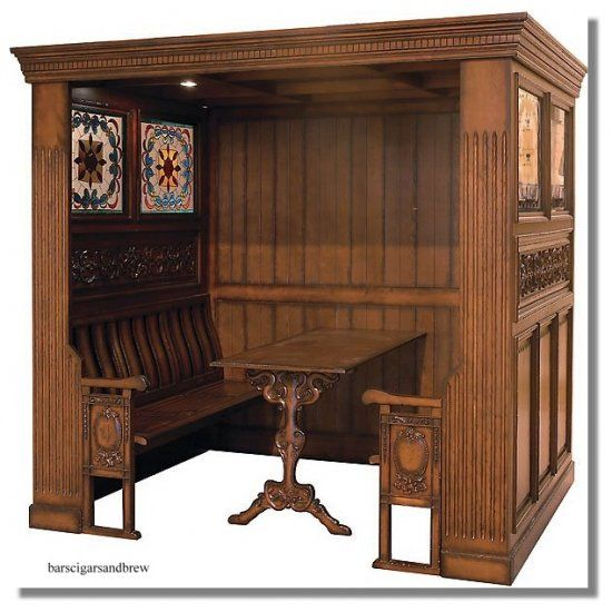 I think I will build a Victorian restaurant booth into my first ...