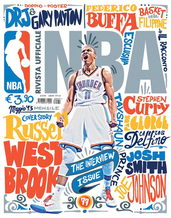 Covers designed for Rivista Ufficiale NBA, the official NBA magazine in Italy. (2012-13) by Francesco Poroli
