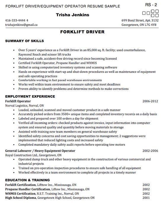 forklift resume warehouse forklift resume extrusion operator shipping processor forklift operator resume samples