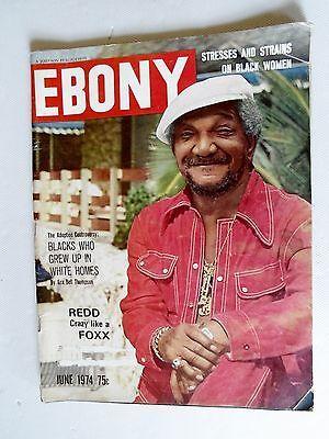 Ebony Magazine June 1974 Issue Redd Foxx Cover Story | eBay