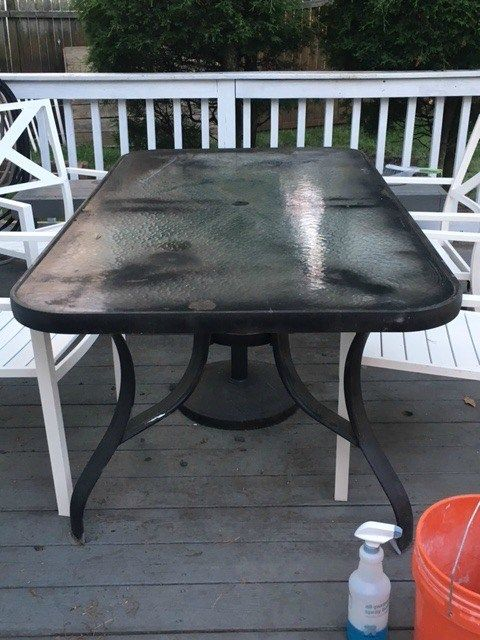 Amazing Glass Table Makeover Patio Furniture Makeover Painting