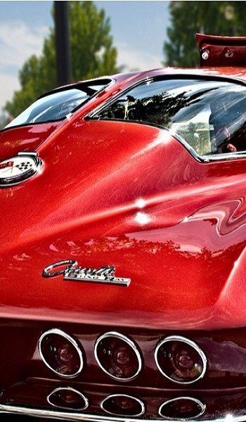 Red 63 split window corvette re pinned by http www for Corvette split window 63