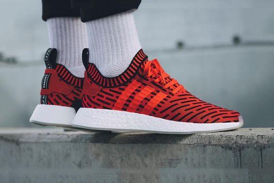 Adidas nmd runner vintage bianco e rosso sul kit da ginnastica di sconto