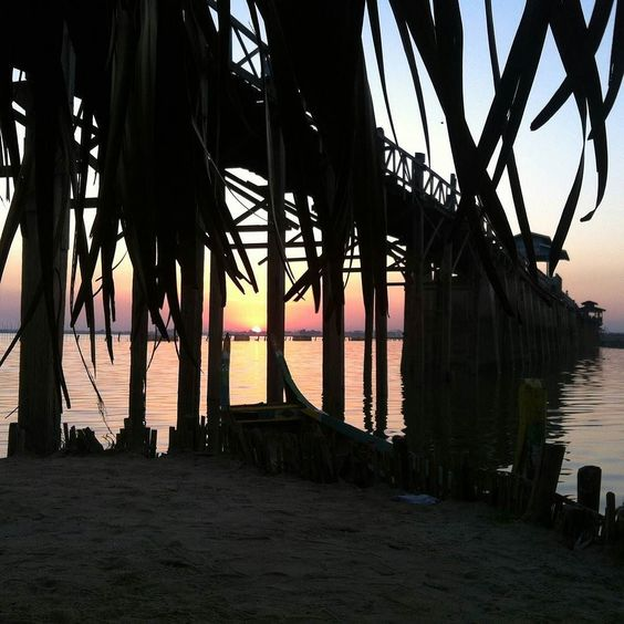 U Bein Bridge Amarapura Mandalay Memories from Myanmar  #Travel #teakbridge #InSearchOf #ॐ  U Bein Bridge is a crossing that spans the Taungthaman Lake  is believed to be the oldest and longest teakwood bridge in the world.  Who did that? # #Twitter @PeterRanger #SpirituallyP  What happened? #SpirituallyPromiscuous #Journey  When did it take place? December #2014  Why did that happen? #Wanderlust #LoveTheWorld  #PassionPassport Visit @myanmar.travel #AroundTheWorld #InstaTravel  #BBCtravel…