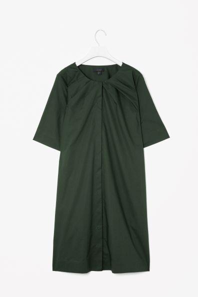 Pleated neckline dress