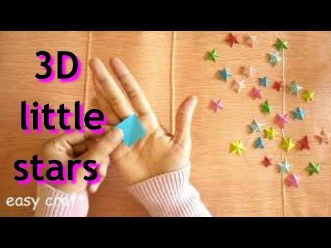 طريقه عمل نجمه ثلاثيه الابعاد بالورق Youtube Diy Jar Crafts Jar Crafts Little Star