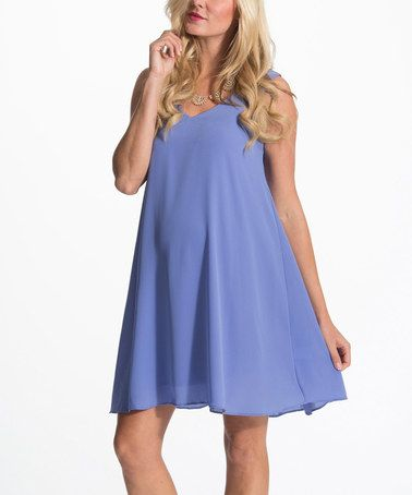 Another great find on #zulily! PinkBlush Periwinkle Tie-Back Maternity Shift Dress #zulilyfinds