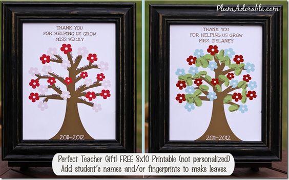 Cute printable for teacher