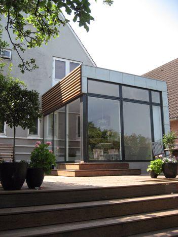 Extension ossature bois d 39 une maison traditionnelle avec for Extension maison zinc