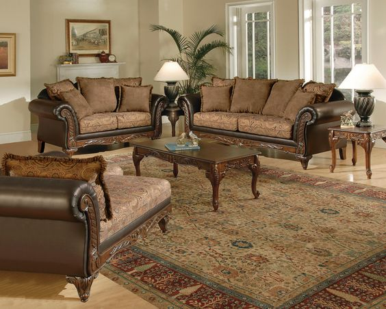 Gorgeous Victorian style chaise lounge love seat and sofa in