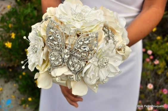 Crystal Butterfly Bouquet - Wedding Accessories by Blue Petyl - Loverly