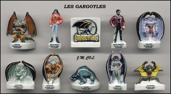 Gargoyles Disney Porcelain French Feves Disney Feves Echangisme