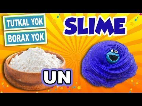Tutkalsiz Borakssiz Kolay Slime Slaym Un Ile Slime Nasil Yapilir Hoppi Tv Youtube Oyun Hamuru Oyun Oyuncak