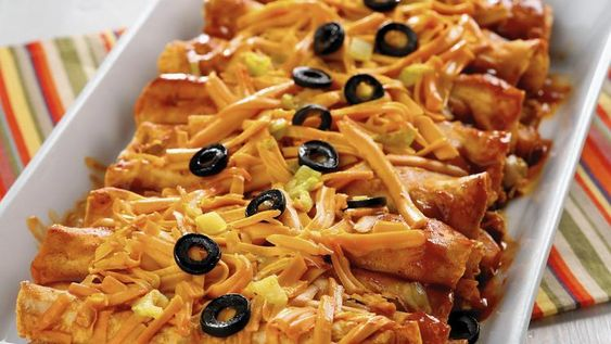 Jackfruit stuffed enchiladas