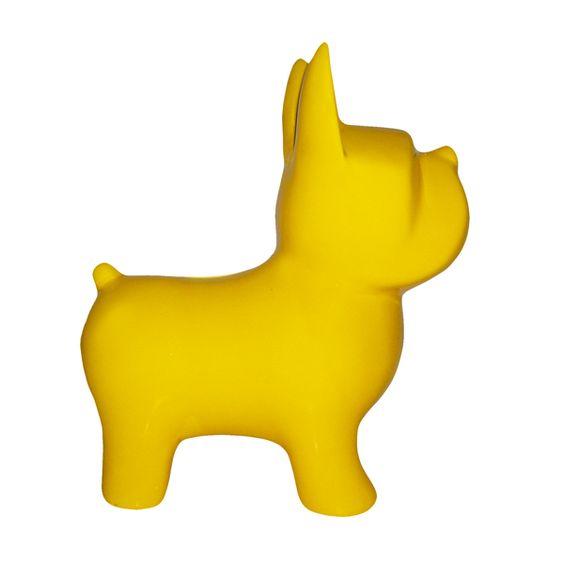 Escultura Cofre Cachorro Amarelo - Gift Express