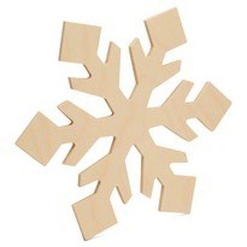 Snowflake Cutout Large 12 L X 10 5 W Wooden Snowflakes Snowflake Cutouts Wood Snowflake