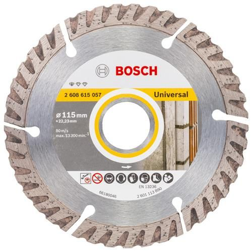Click To Enlarge Bosch High Speed Universal 115mm Diamond Blade With 22 23mm Bore Disco