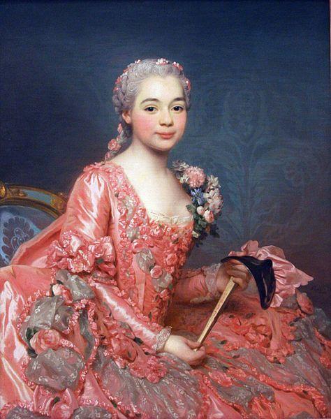 Alexander Roslin (1718–1793)    Portrait of the Baroness de Neubourg-Cromière  1756: