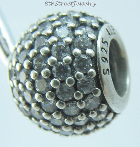Pandora European Bead Charm Sterling Silver 925 Pavé lights, clear cz 791051CZ  #Pandora #European