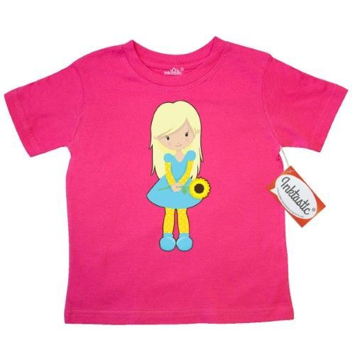 inktastic Cute Little Mermaid White Toddler Long Sleeve T-Shirt Blonde Hair