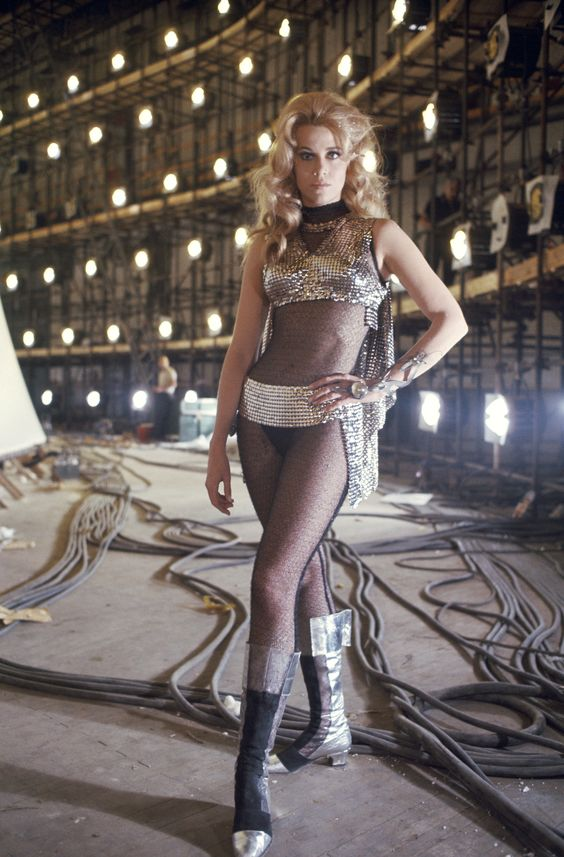 Jane Fonda as Barbarella.: