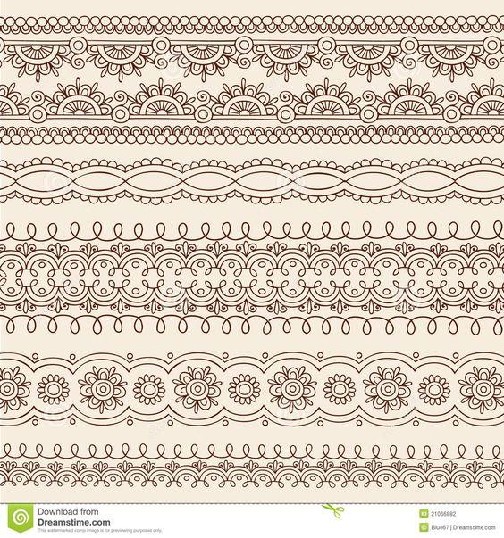 Elementos Do Projeto Da Beira Do Vetor Do Doodle De Mehndi Do Henna - Baixe conteúdos de Alta Qualidade entre mais de 42 Milhões de Fotos de Stock, Imagens e Vectores. Registe-se GRATUITAMENTE hoje. Imagem: 21066882