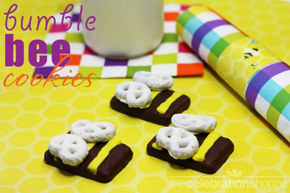 Easy no-bake bumble bee cookies ~ perfect for a bugs birthday party
