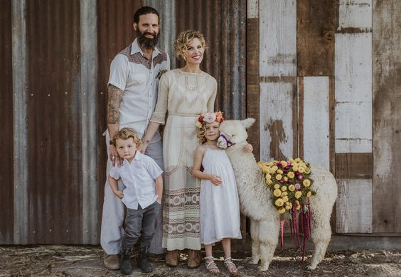 Boho Wedding ojai bohemian lace wedding hipster dress eclectic alternative