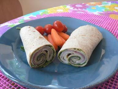 Go Light With This Low Calorie Ham and Turkey Wrap: Low Fat Ham and Turkey Wrap