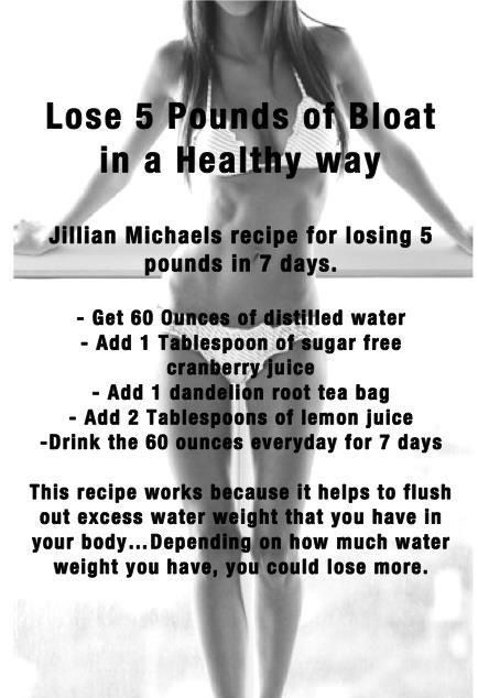 Lose the loat in five days! Flat tummy remedy to lose excess water weight