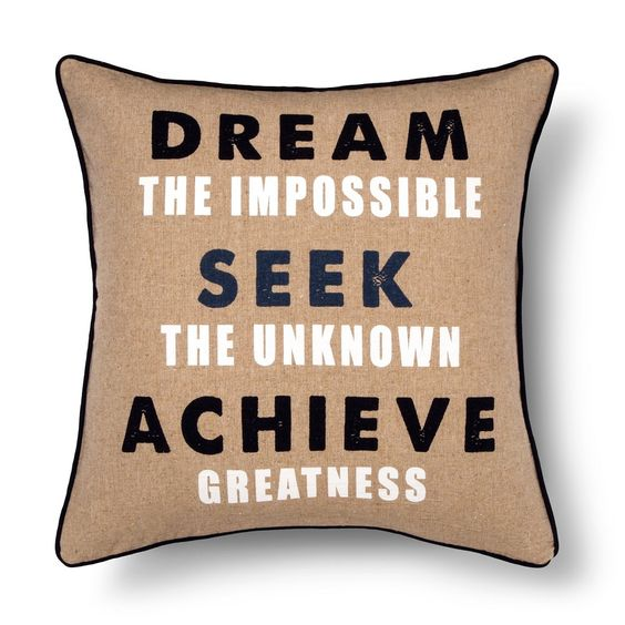 Ryder Dream the Impossible Pillow 18x18 Navy - Sheringham Road