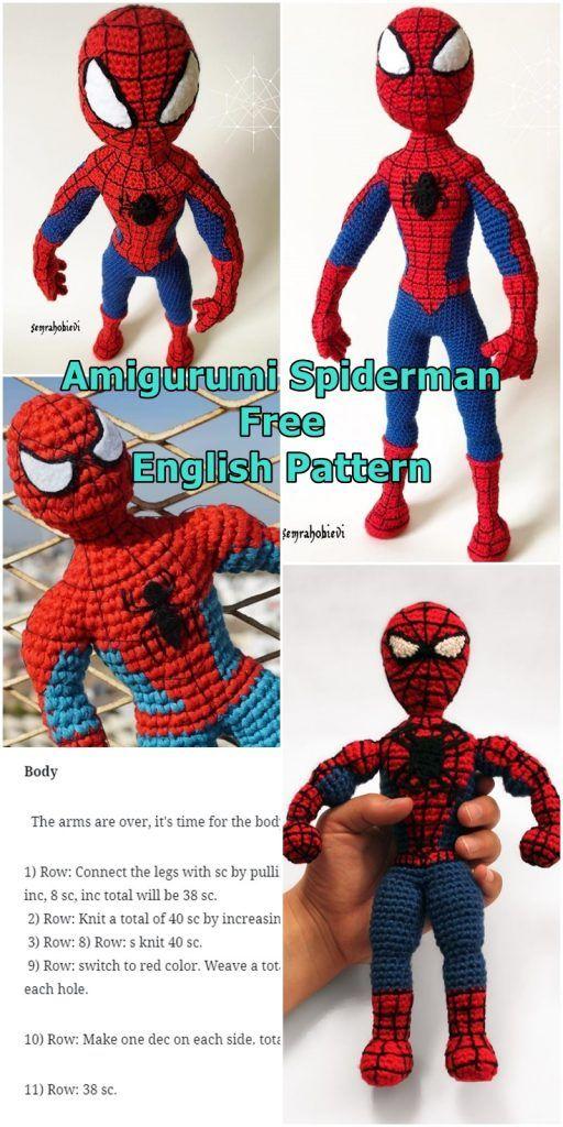 Mini Spiderman🕷❤️ 5,5cm #spiderman #hombrearaña #amigurumi ... | 1024x512