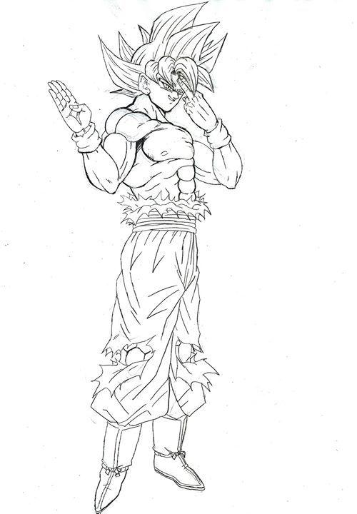 Goku Migatte No Gokui Dibujos Goku Y Dragones