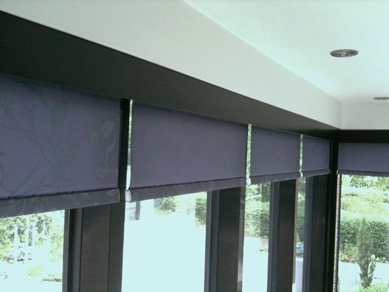 office blinds to hide the roller blinds and to match