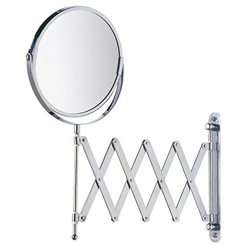 Wenko 15165100 Wall Mounted Cosmetic Mirror Telescope Exclusive Mirror Surface Diam 6 3 Inch 3 X Magnification Steel 7 5 X 15 Mirror Wall Mounted Mirror Mirrors Wayfair