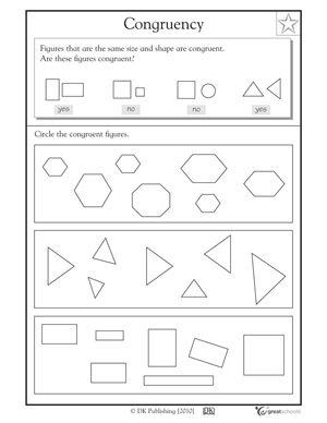 Printables Similar Shapes Worksheet Grade 4 similar and congruent figures worksheet davezan worksheets woodleyshailene worksheets