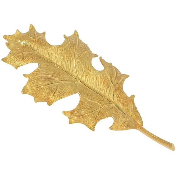 Pre-owned Tiffany & Co. Oak leaf Gold Brooch (¥144,925) ❤ liked on Polyvore featuring jewelry, brooches, antique gold jewelry, gold leaf jewelry, 18 karat gold jewelry, 18k gold jewelry and antique brooch