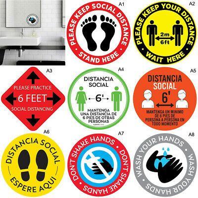 Ebay Ad Link Social Distancing Floor Sticker Indoor Outdoor Ground Sticker Safety Floor Sign Floor Stickers Happy Birthday Signs Safety Floor