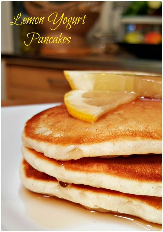 These Lemon Yogurt Pancakes are a wonderful way to start your family ...