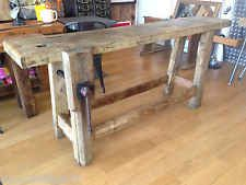 ancien etabli bois massif de menuisier meuble metier mobilier industriel vasque old meubles. Black Bedroom Furniture Sets. Home Design Ideas