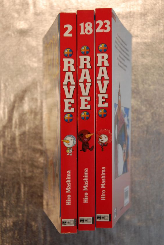 Rave Nr. 2, 18, 23 Action Manga EHAPA 2004-2014 ausuchen